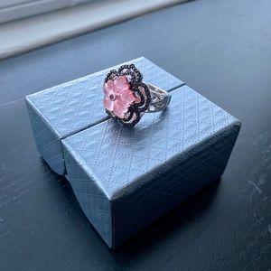 Mother-of-Pearl Triplet & Multi Gem Flower Ring